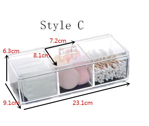 Portable Transparent Makeup Organizer Storage Box Acrylic Make Up Organizer Cosmetic Organizer Makeup Storage Drawers Organizer