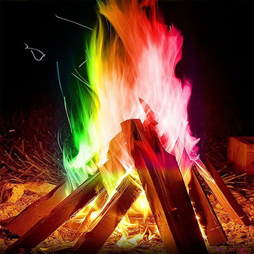 Colorful Magic Bonfire Flames multi tool fire starter кемпинг Camping equipment Powder hiking equipment outdoor Survival поход