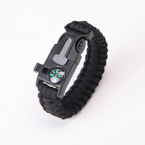 Safety Survival Paracord Bracelet Whistles Multi Functional Emergency Paracord Bracelet Compass Whistle Parachute Without Flint