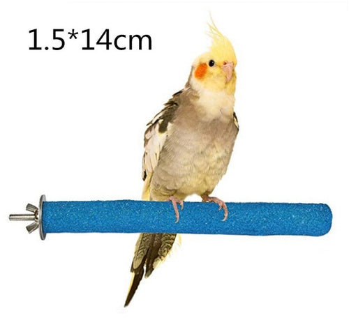14cm Bird Claw Beak Grinding Bar Standing Stick Parrot Station Pole Bird Supplies Parrot Grinding Stand Claws Cage Accessories