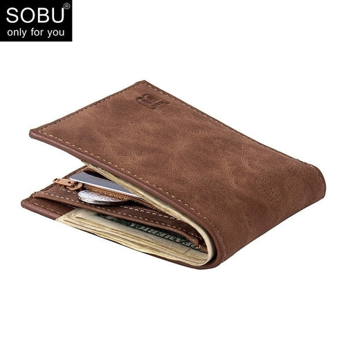 2019 New Men Wallets Small Money Purses Wallets New Design Dollar Price Top Men Thin Wallet With Coin Bag Zipper Wallet L027