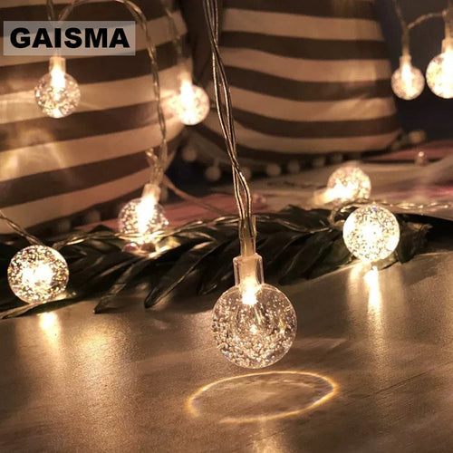 10M 100 Bulbs Ball Fairy Lights Christmas Garland LED String Lights Decoration Wedding For Party Home Bedroom Holiday Lighting