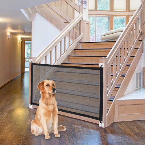Magic Dog Gate Ingenious Mesh Dog Fence For Indoor and Outdoor Safe Pet Dog gate Safety Enclosure Pet supplies