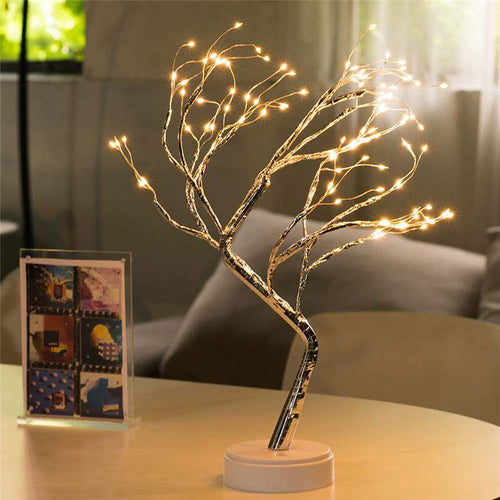 108 LED USB _Fire Tree Light Copper wire Table Lamps Night light for Home Indoor Bedroom Wedding Party Bar Christmas Decoration