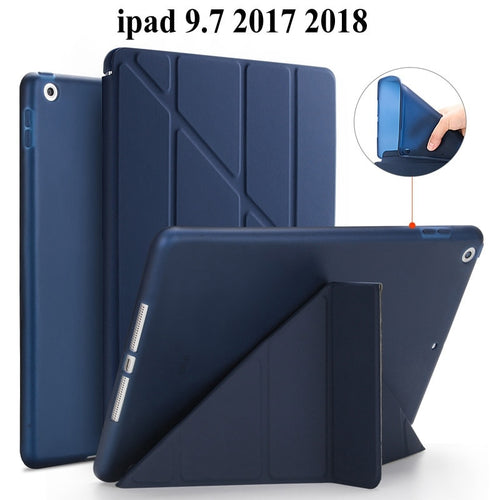 Soft TPU Back Protective Case For Apple iPad 9.7 2017 smart Cover for iPad 9.7 2018 cover A1822 A1823 tablet case+Film+Pen