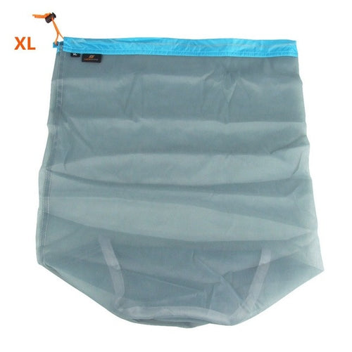 1pc Laundry Outdoor Bag Ultralight Mesh Stuff Sack Camping Sports Drawstring Storage Bag Hiking Tools Climbing Drawstring bolsa