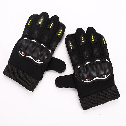 Wear Resisting Palm Block Slider Gloves Protect Hand 3 POM Black Red Sporting Goods Non Slip Skateboard Gloves Downhill