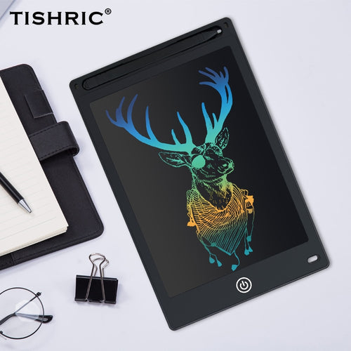 TISHRIC 8.5 inch LCD Writing Tablet for Drawing Digital Erasable Drawing Tablet/Pad/Board For Kids Electronic Graphics Tablet LCD/Screen With Pen Battery