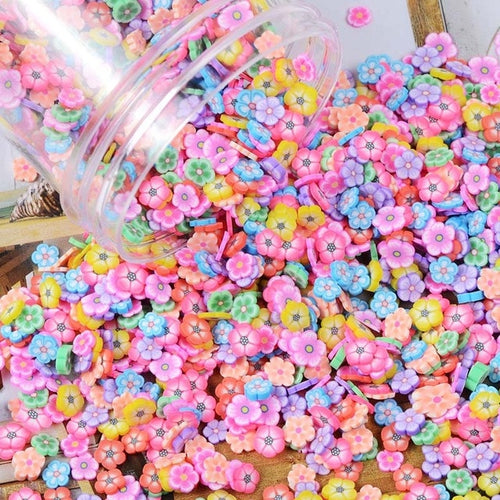 100g/lot Polymer Hot Clay Sprinkles Colorful Fruit Smiley Face Candy Sprinkles for Crafts DIY Making Nail Slices Slime Material