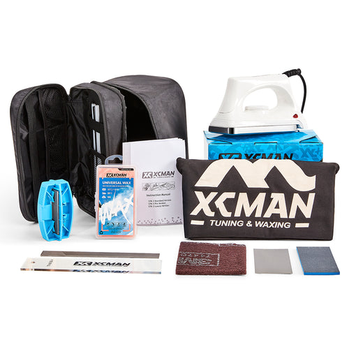 XCMAN Ski Snowboard Complete Waxing And Tuning Kit Storge Bag For Travling and Storge Tools Pouch With Zipper With Waxing Iron