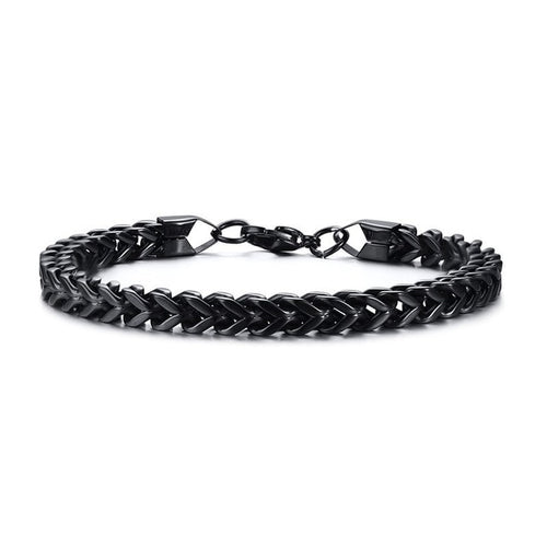 Amazing Price Stylish Stainless Steel Silverly Bali Foxtail Chain Bracelet for Men Double Link Chain Bracelets Male Jewelry