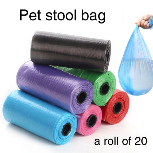 Hot New Multi-purpose Portable 20pcs Pet Cat Puppy Dog Waste Poo Poop Bags