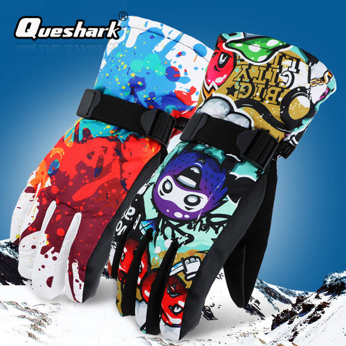 Winter -30 Thicken Ski Gloves Men Women Children Windproof Waterproof Mittens Adjustable Cycling Climbing Snowboard Snow Gloves