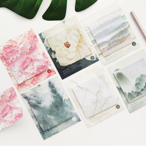 1Pcs Creative Colorful  Self Adhesive Memo Pad Sticky Notes Various Style Bookmark Stationery School Office Supply