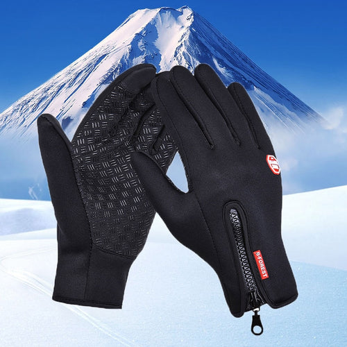 Waterproof Winter Warm Gloves Windproof Outdoor Ski Gloves Thicken Warm Mittens Touch Screen Gloves Unisex Men Cycling Glove