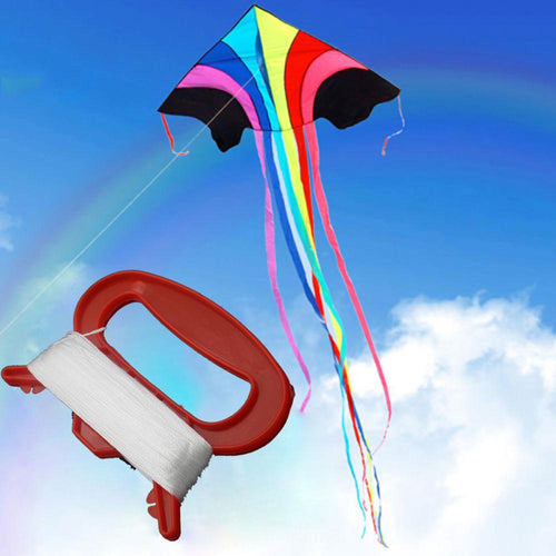 30/50/100m Outdoor Sports Fly Kite Line String with D Shape Winder Board Tool Kit Kites Line Fly Accessories