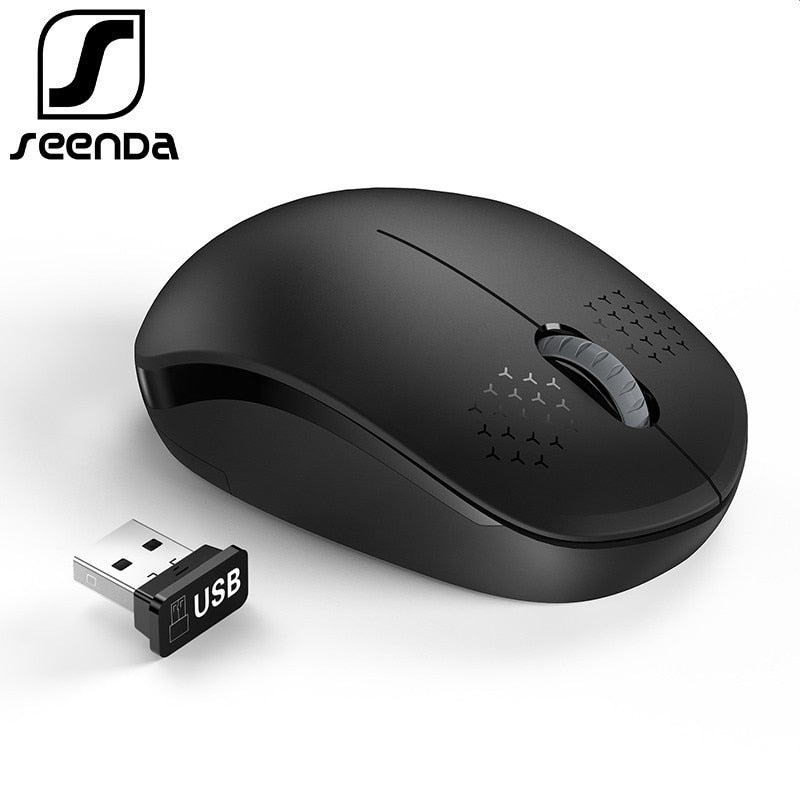 SeenDa Noiseless 2.4GHz Wireless Mouse for Laptop Portable Mini Mute Mice Silent Computer Mouse for Desktop Notebook PC Mause