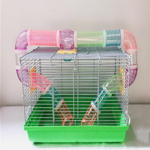 1pcs Hamster Tunnel Cage External Pipe Interface Fitting Hamster Toy Cage Tunnel Accessories Random Color Delivery