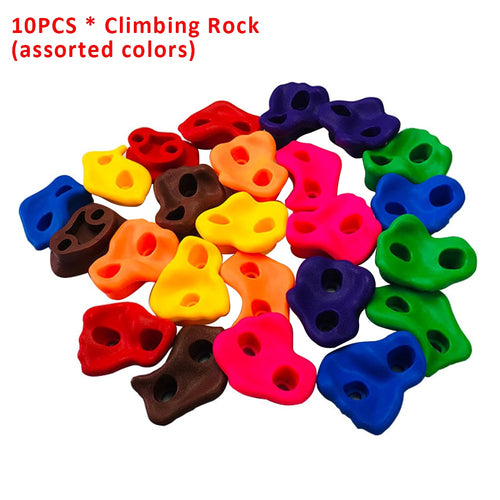 10pcs Children Backyard Plastic Toys Playground Assorted Small Kids Hand Feet Holds Wall Stones Indoor Outdoor Climbing Rock Set