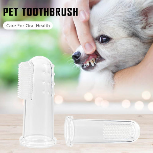 1pc Soft Pet Finger Toothbrush Hot-sale Pet Teeth Cleaner Breath Fresher Teddy Dog Brush Bad Breath Pet Cleaning Healthcare Tool