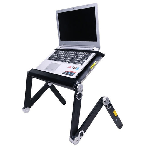 360 Degree Adjustable Notebook Suitable With Cooling Fan Folding Portable Laptop Desk Table Stand Tray for Bed And Sofa