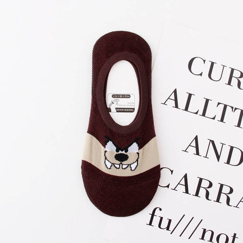 Cute Cartoon Women Causal Cotton Socks Looney Tunes Comfortable Tweety Bunny Wolf Invisible Men Socks No Show Socks