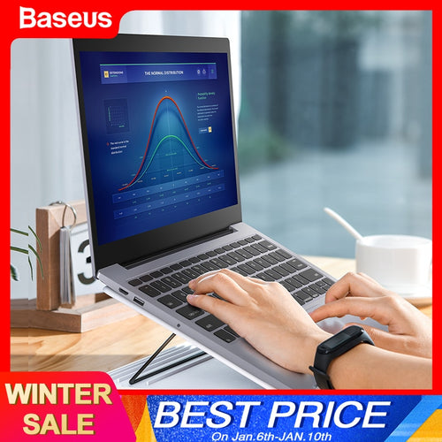 Baseus Portable Laptop Stand For Macbook Air Pro 16 15 14 13 Inch Adjustable Foldable Notebook Base Holder Stand For Computer PC