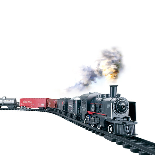 Free Shopping Electric Rail Car Train Toy Children's Electric Toy Railway Train Set Racing Road Transportation Building Toys