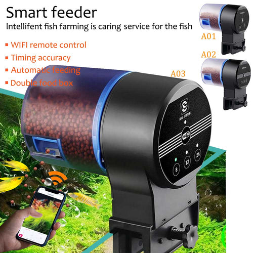 Aquarium Fish Automatic Feeder Fish Food Timer WIFI Fish Food Dispenser Goldfish Smart Timing Auto Fish Feeder 8/12/24 Hours D20