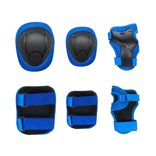 6 In 1 Kids Protective Gear Knee Pads And Elbow Pads Set With Wrist Guard And Adjustable Strap For Cycling Skateboarding QW