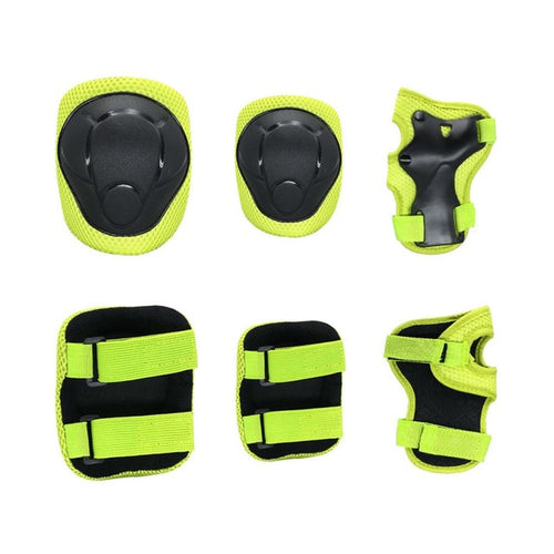 Kids Protective Gear Knee Pads And Elbow Pads 6 In 1 Set With Wrist Guard And Adjustable Strap For Cycling Skateboarding