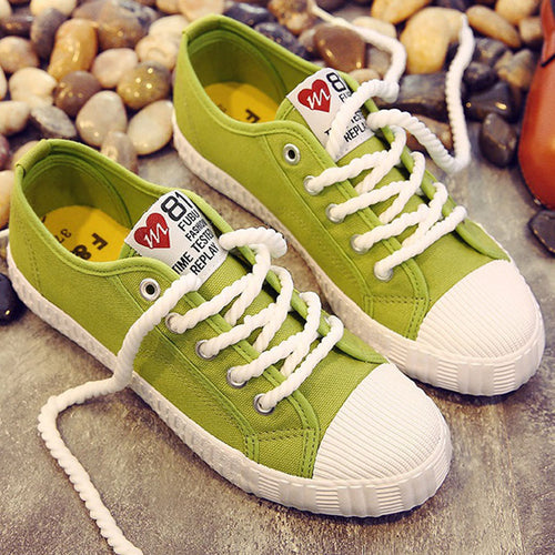Canvas shoes for girls 2020 Spring Fashion Sneakers Solid Sewing Women Denim Shoe Sapato Feminino Size 35-41