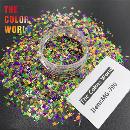 TCT-366  Mardi Gras Carnival Mix Nail Glitter Nail Art Decoration Resin Art On Tumblers  Craft Accessoires Festival Party Supplier