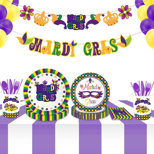 Mardi Gras Party Decorations DIY Photobooth Props Mask Carnival Party Favors Ceiling Wall Hanging Banner Swrils Party Supplies
