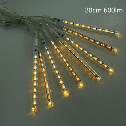 Hanging String Cascading Raindrop LED Lights