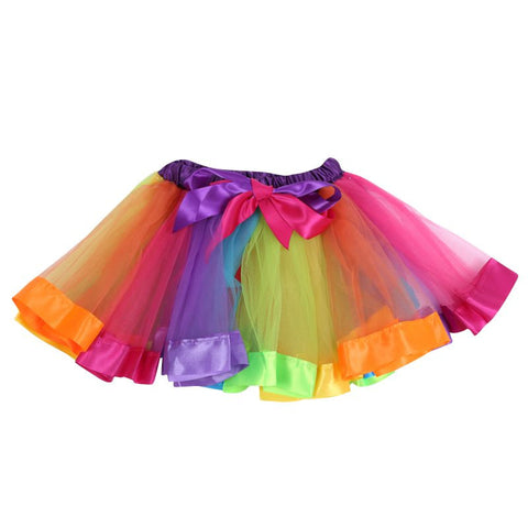 Rainbow-Colored Fluffy Tutu