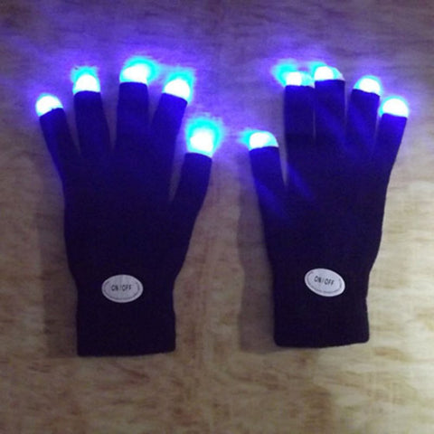 LED Multicolor Glow Gloves