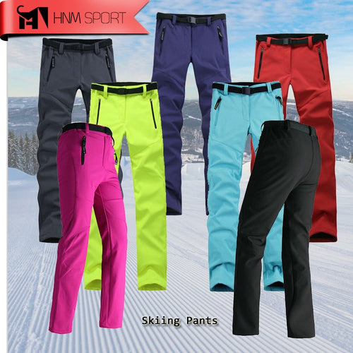 2017 Update Women Thick Warm Fleece Softshell Pants Fishing Camping Hiking Skiing Trousers Waterproof Windproof