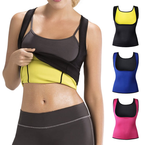 Sports Fitness Cami Vest Hot Exercise Shapers Tops Training Sweat Sleeveless Shirt Neoprene Clothes Vests Slimming Women S-6XL