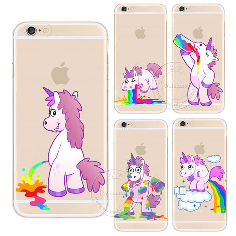 Crazy Unicorn Rainbow iPhone Case