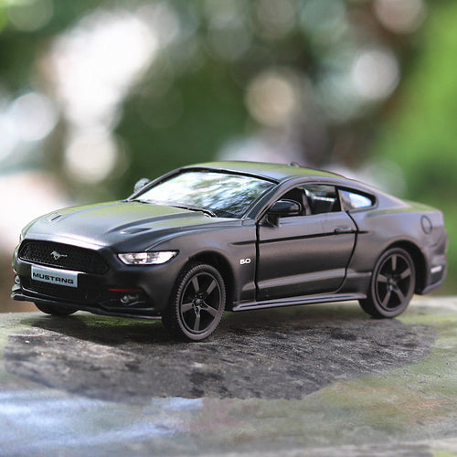 1:36 scale high imitation alloy model car,matte ford mustang pull back retro car toy, 2 open door toy vehicle, free shipping