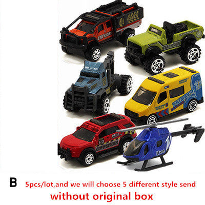 5cs/lot 1:64 Alloy Model Car Suit Army City Fire Engine Boy Toy Car for Children