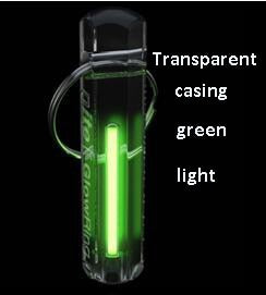 Nite Tritium Glowring Keychain Key Fob Night Automatic Light Self Luminous Fluorescent Tub Tritium
