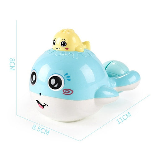 Cute Bath Toys For Baby Candy Color Plastic Whale Room Bed Crib Rattle Baby Toys Funny Toy T0265