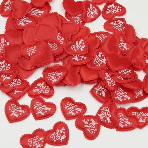 100PCS 3.5CM Red Love Heart Flower Petals for Wedding Valentine Day Decoration Throwing Confetti Party Decoration