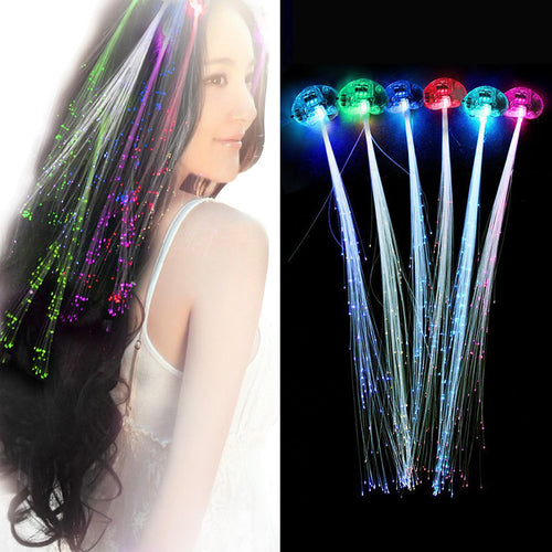 Hair Light Christmas Decorations LED Headband Party Hairlights Halloween Glowing Braid Clip Neon Birthday Flash Lights Glow Rave