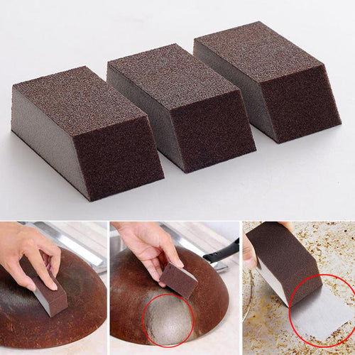 1 Pcs/3pcs Alumina Emery Strong Magic Sponge Cleaning Brush Dish Bowl Washing Sponge Kitchen Pot Pan Window Glass cleaner tools