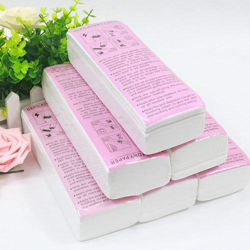 100Pcs Hair Removal Waxing Strips Non-woven Fabric Epilator Wax Papers Depilatory Beauty Tool For Leg wax for depilation Hot