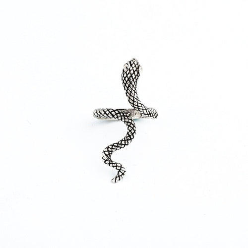 1 Pcs Stereoscopic New Retro Punk Exaggerated Snake Ring Fashion Personality Snake Opening Adjustable Ring Jewelry As GiftR158-6
