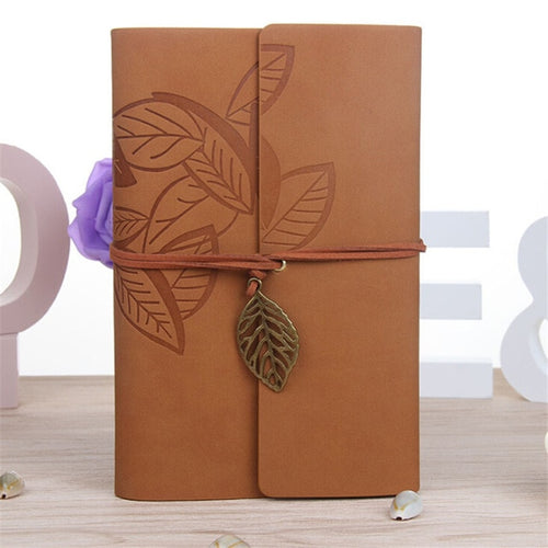 145*105MM Classic Retro Notebook Leather Blank Diary Note Book Journal Sketchbook 8 Colors Stationery School Office Supplies